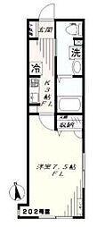 神奈川県横浜市戸塚区汲沢7丁目の賃貸アパートの間取り