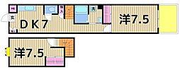 東京都足立区一ツ家4丁目の賃貸マンションの間取り
