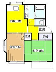 クララハイム[2階]の間取り