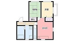 広田ハイツ[22号室]の間取り