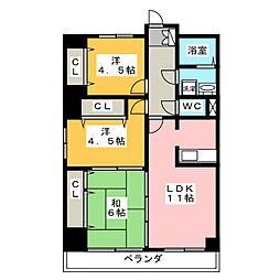 第二桜ハイツ[2階]の間取り