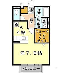 兵庫県姫路市宮上町1の賃貸アパートの間取り