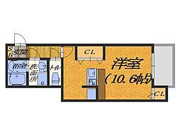 大阪府堺市堺区鉄砲町の賃貸アパートの間取り