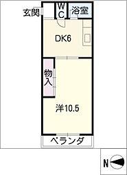 佐枝ビル[4階]の間取り