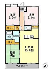 神奈川県藤沢市石川1丁目の賃貸マンションの間取り