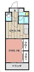 ニューシティアパートメンツ南小倉II[702号室]の間取り