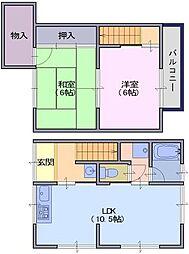 [テラスハウス] 奈良県天理市豊井町 の賃貸【/】の間取り