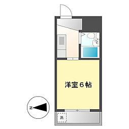 プレズ名古屋庄内通[4C号室]の間取り
