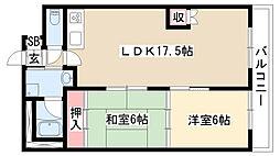 愛知県名古屋市天白区島田4丁目の賃貸マンションの間取り