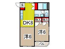 沖田ハイツ[1階]の間取り