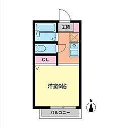 バケーロB[2階]の間取り