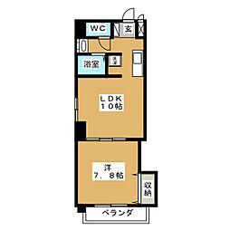 グッチハイム葵[2階]の間取り
