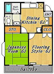 東京都江戸川区東葛西9丁目の賃貸マンションの間取り