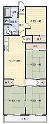 東山本ハイツ[1階]の間取り