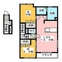 ロココプランB・C棟[2階]の間取り