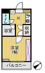 プリンスマンション[108号室]の間取り