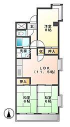 メゾンドタグチII[4階]の間取り