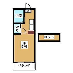 コートリバーサイド[1階]の間取り