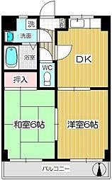ロイヤルコート北戸田[302号室]の間取り