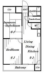 カネナカ第5ビル[4階]の間取り
