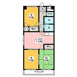 Annex Pair[3階]の間取り