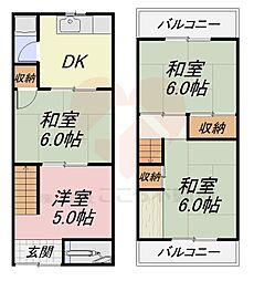 上野芝駅 4.9万円