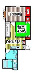 永井マンション[2階]の間取り