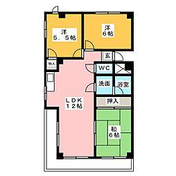 パティオA[4階]の間取り