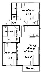 (仮)D-room葛城[1階]の間取り