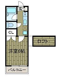 神奈川県川崎市麻生区万福寺2丁目の賃貸アパートの間取り