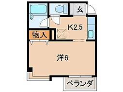 レスペート西庄I[3階]の間取り
