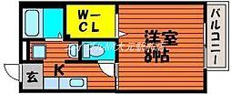 岡山県岡山市中区平井2丁目の賃貸アパートの間取り
