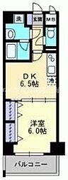 JR山陽本線 岡山駅 徒歩20分の賃貸マンション 5階1DKの間取り
