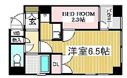 プリオーレ神戸2[2階]の間取り