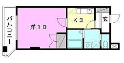 駅前マンション田窪[503 号室号室]の間取り