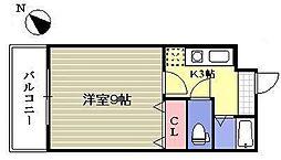 いわき6番館[9階]の間取り