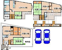 [一戸建] 兵庫県神戸市東灘区住吉東町3丁目 の賃貸【/】の間取り