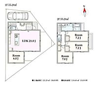 A区画 建物参考プラン(建物面積110.40m2)