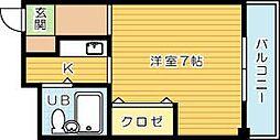 サンモリッツ小倉弐番館[210号室]の間取り