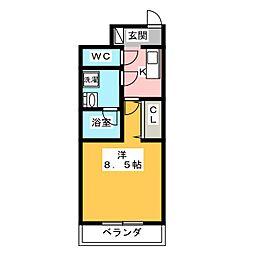 GRAN PASEO 神楽坂 2階1Kの間取り