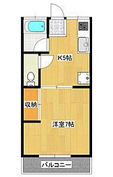 コモード石井町1[2階]の間取り