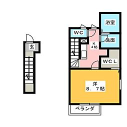 レ・スリジエ[1階]の間取り