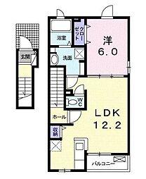 ルネ ルネッサンス I[2階]の間取り