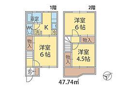 千葉県柏市松葉町の賃貸アパートの間取り