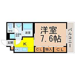 愛知県名古屋市中川区百船町の賃貸アパートの間取り