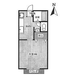 ヤングライフ原田 K[202号室]の間取り