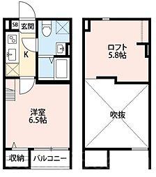 CarpeDiem堺(カルぺディエムサカイ)[2階]の間取り