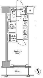 JR総武線 飯田橋駅 徒歩4分の賃貸マンション 8階1Kの間取り