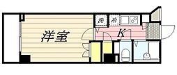 東京都大田区大森中3丁目の賃貸マンションの間取り