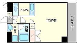 コーポYAHATAナンバ元町[8階]の間取り